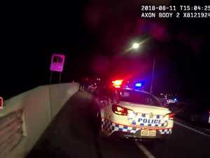 Man arrested after allegedly ramming cop car