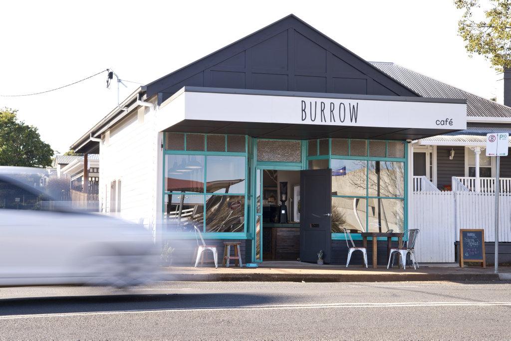 A fire tore through popular Toowoomba cafe Burrow last night.