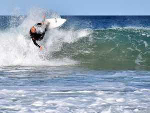 PUMPING: Coast riders make most of the waves