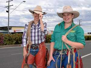Calliope cowgirls strut their stuff on Hanson Road for rodeo