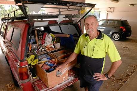 Ipswich tradesman Bruce Patterson has given work to people facing tough times.