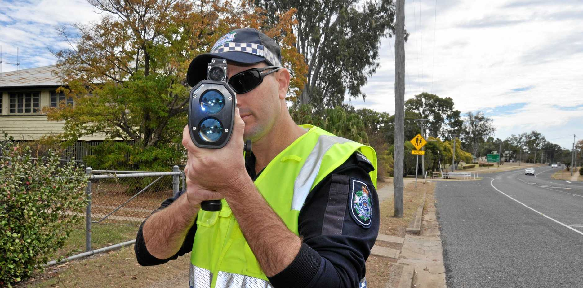 ROAD SAFETY: A man was handed a $1218 fine, lost eight points and received an automatic six month suspension after being caught speeding.