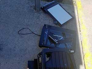 Vandalised item found dumped in park
