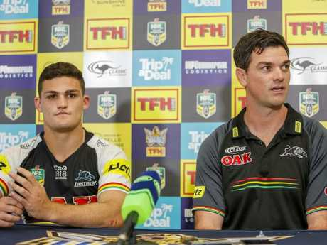 The whole league wants to hear from Nathan Cleary and Cameron Ciraldo. Picture: Glenn Hunt/AAP