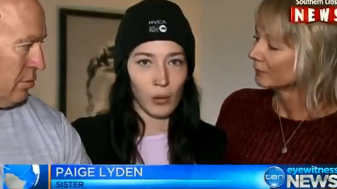 The family of Madison Jane Lyden, who has been killed while holidaying in New York, speak to media. Picture: 10 NEWS