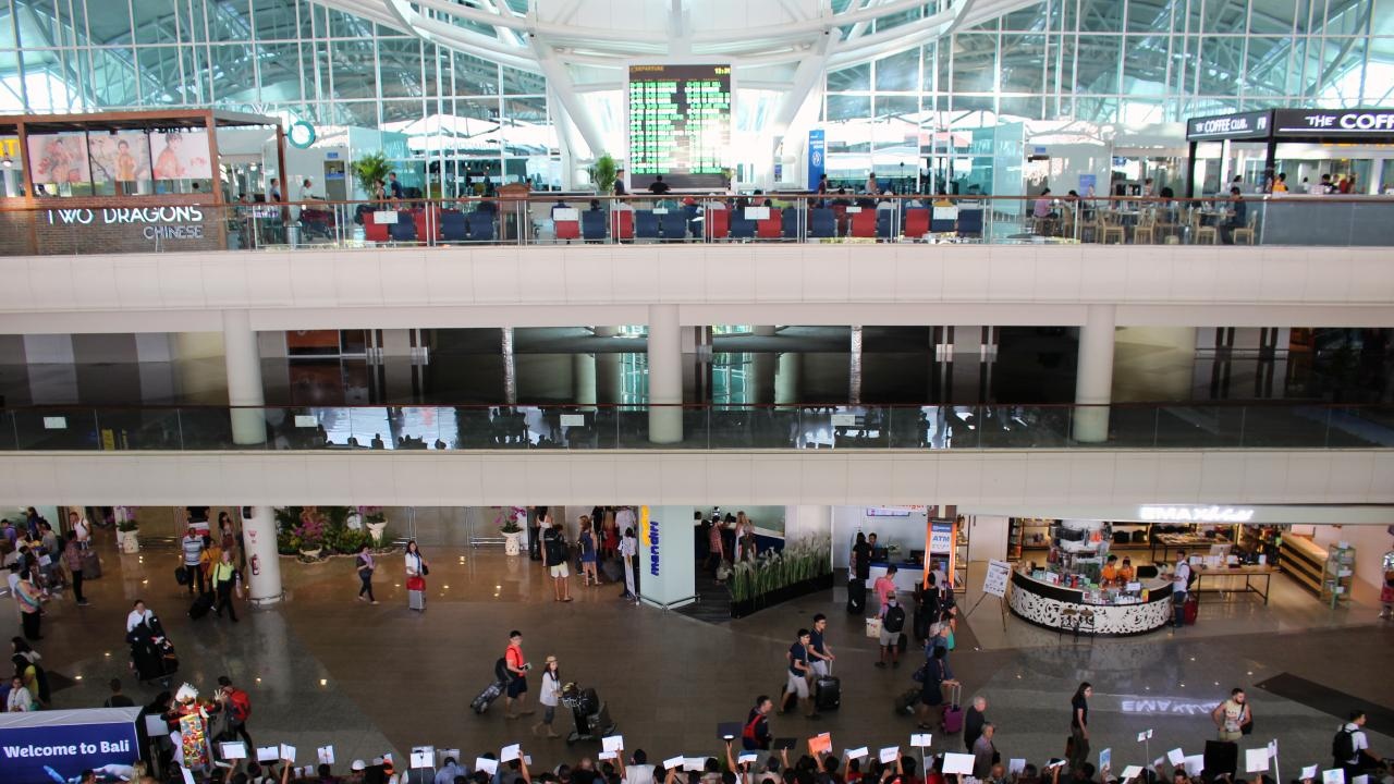 The teenager was accused of theft at Bali's Denpasar international airport.
