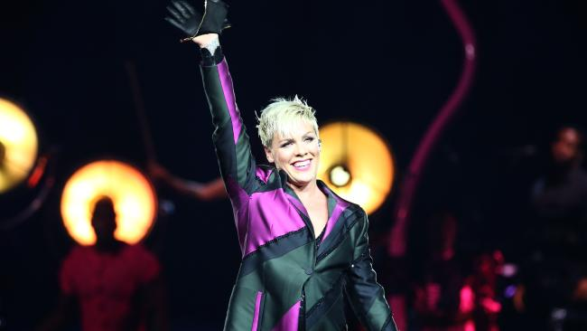 Pink is ready to rock Brisbane. Picture: Damian Shaw
