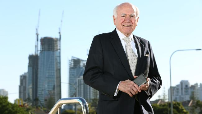 Former Prime Minister, John Howard, said encouraging migrants to move to rural or regional areas could ease housing price pressure. Picture: Glenn Hampson