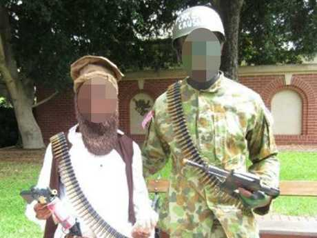 Some students found it funny to dress as terrorists.