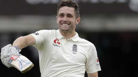 England's Chris Woakes has his name on all three Lord's honours boards.