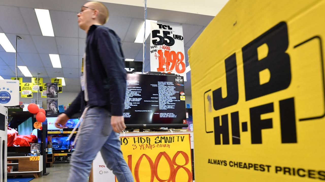 JB Hi-Fi has recorded a big profit rise today. Picture: AAP Image/Darren England