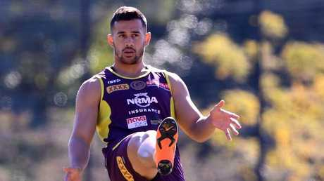 Jordan Kahu is back for the Broncos. (AAP Image/Dave Hunt)