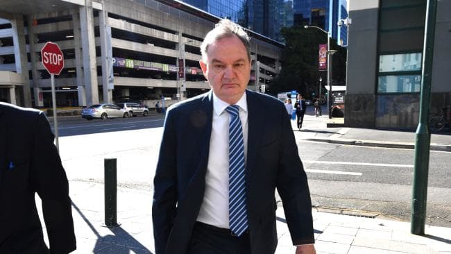 Former Ipswich mayor Paul Pisasale arrives at the Brisbane Magistrates Court today. Picture: AAP/Darren England