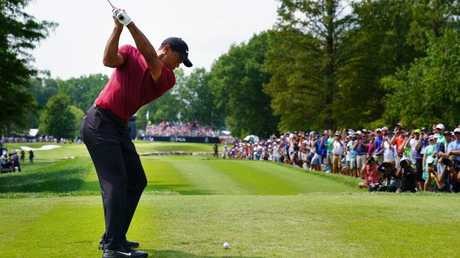 Tiger Woods during the final round of the PGA Championship. Picture: Getty Images