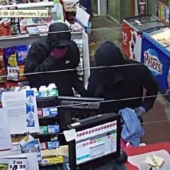 KINGAROY police have released CCTV images of two people they want to speak with about an armed robbery.