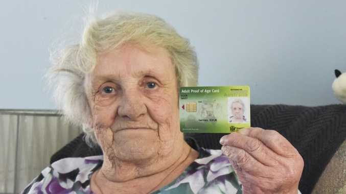 ID: Mary Ellis is frustrated by the restrictive use of her adult proof of age card.