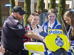 Students experience police work