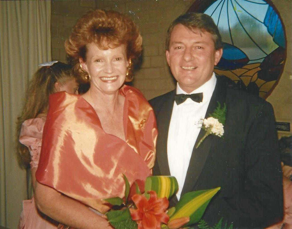 IN LOVE: Jaimie de Salis OAM and Barry Vincent on their wedding day in 1991.