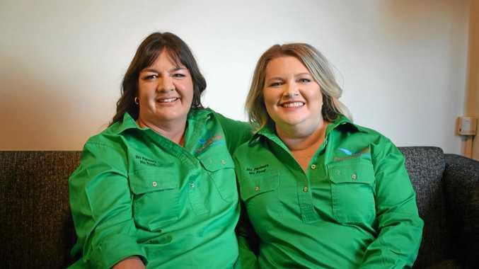 WONDER WOMEN: Angels Jenny Gailey and Tash Johnston.