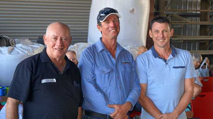 FUTURE FARMING: Speakers at the Climate, Cane and Carbon field day at Marian on Sunday: Deputy chair of the Australian Cane Farmers Association Robert Quirk, cane grower and Nuffield Scholar Simon Mattsson and Mackay Regional Council CEO Craig Doyle.