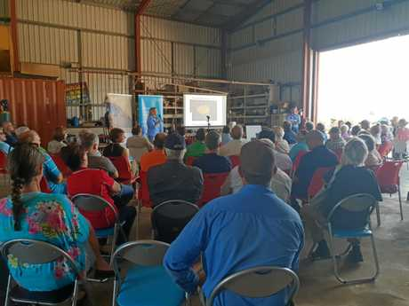 Attendees at the Climate, Cane and Carbon field day at Marian on Sunday.