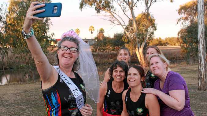 RUNAWAY BRIDE: Race to tie the knot is on for avid jogger