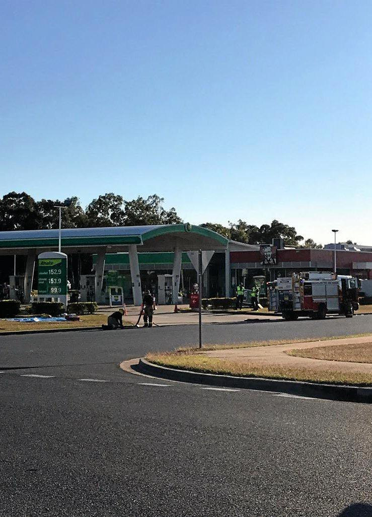 Police blocked the roads surrounding a Yeppoon BP Service Station after a suspected gas leak on Tuesday morning.