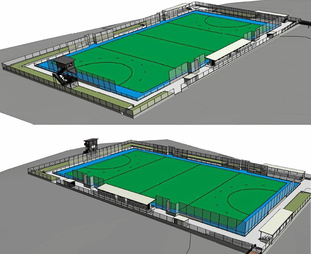 Preliminary design plans for the second synthetic hockey turf at Kalka Shades.