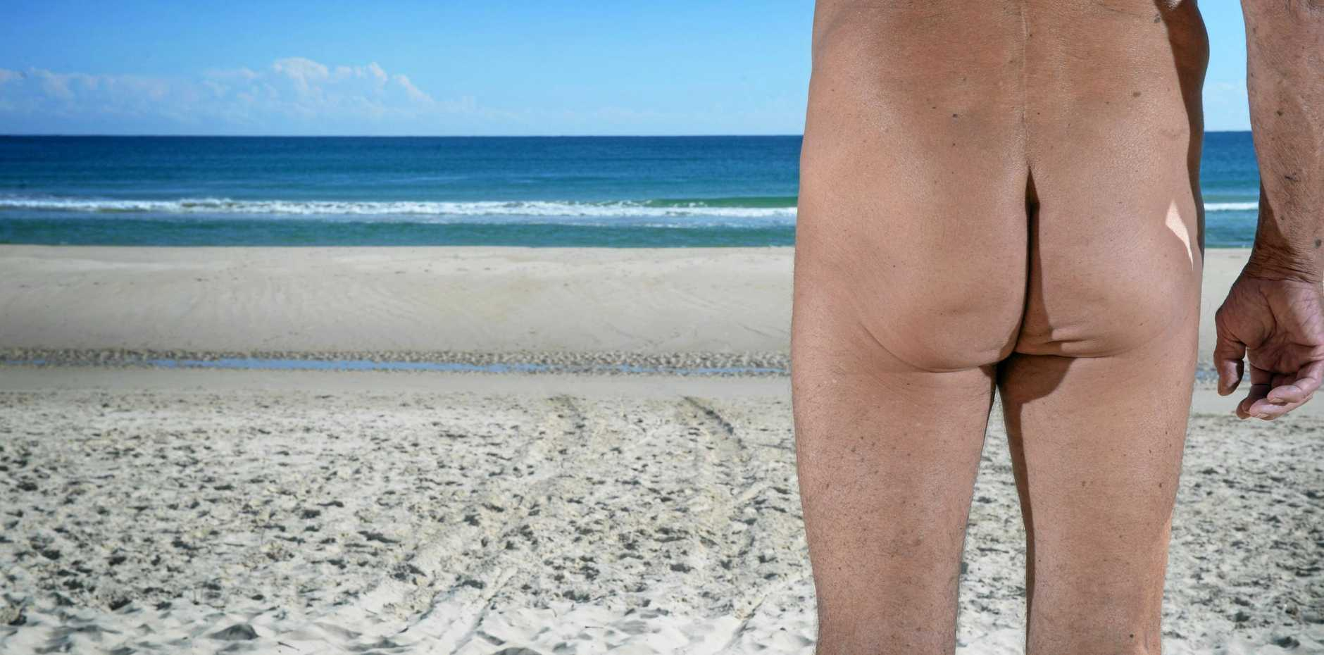 File photo of naked bum - this is NOT a photo of the nudie run in Imbil.