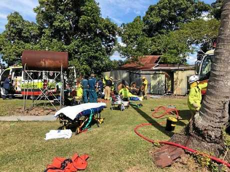 On May 20, the rescue service flew out to Benholme to treat a 53-year-old farmer trapped underneath an overturned tractor.The chopper service reported at the time it was believed the man was truing to pull down an old shed with the tractor and a chain.The farmer was flown to Mackay Base Hospital with suspected internal injuries and bruising.