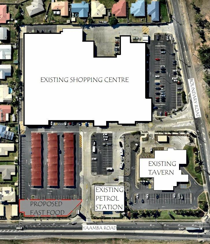 The proposed fast food outlet at Parkhurst Town Centre.