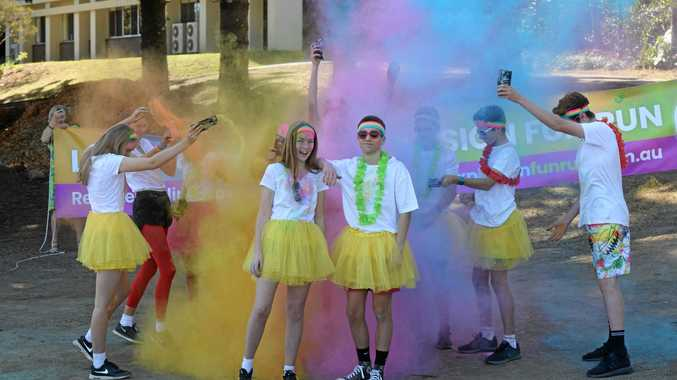 Lismore school students Mimi O'Reilly, 13, and Jackson, Cheong, 15, are excited to participate in the Lismore Colour Explosion Fun Run on Sunday September 23 from 8am - 2pm in the scenic hills of Woodlawn.