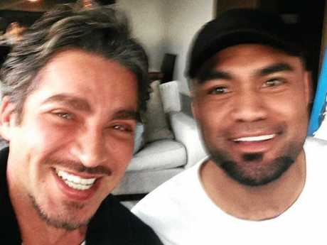 SHOOTING VICTIM: Nemilote 'Nim' Ngata (right) with John Ibrahim. Ngata was shot in Coffs Harbour on February 10, 2018.