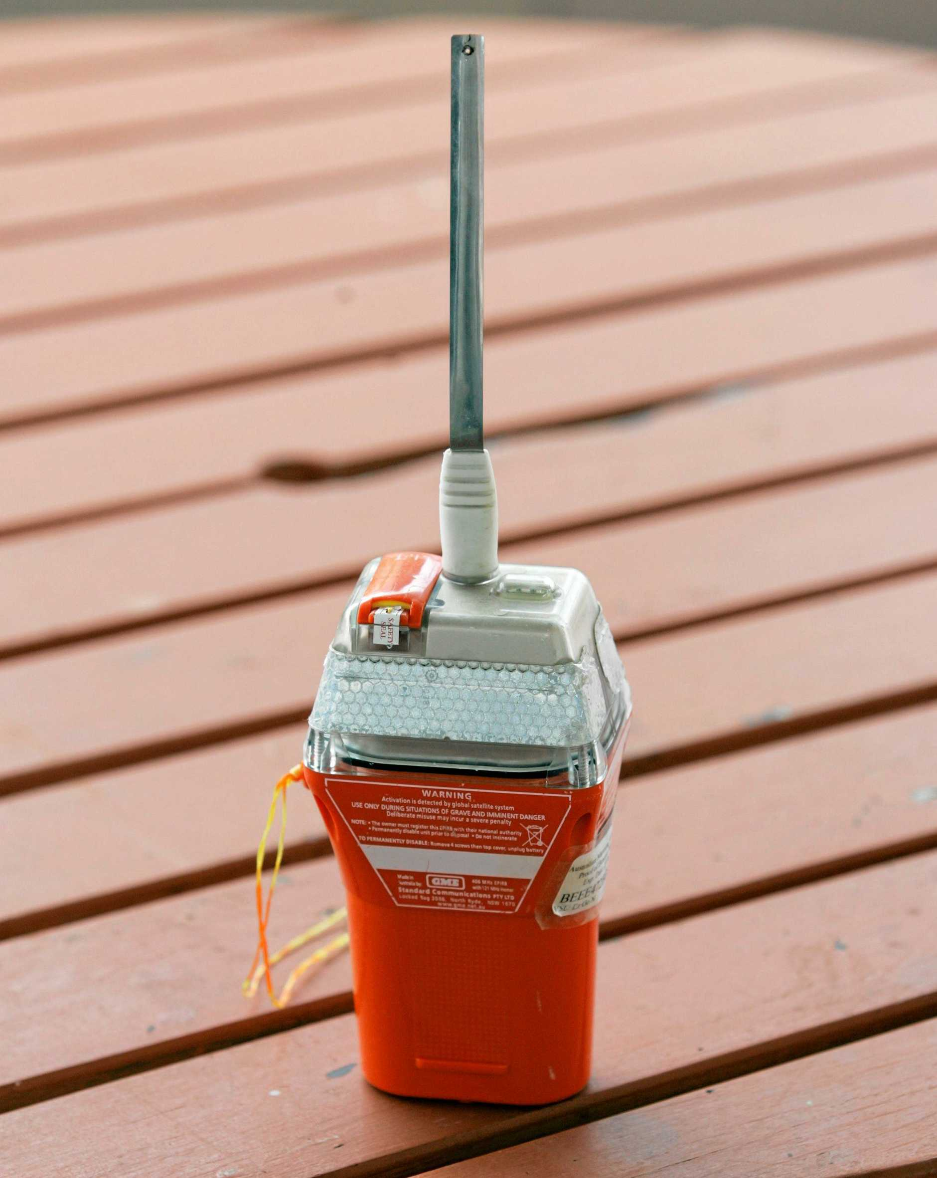 An EPIRB - Emergency position indicating radio beacon.