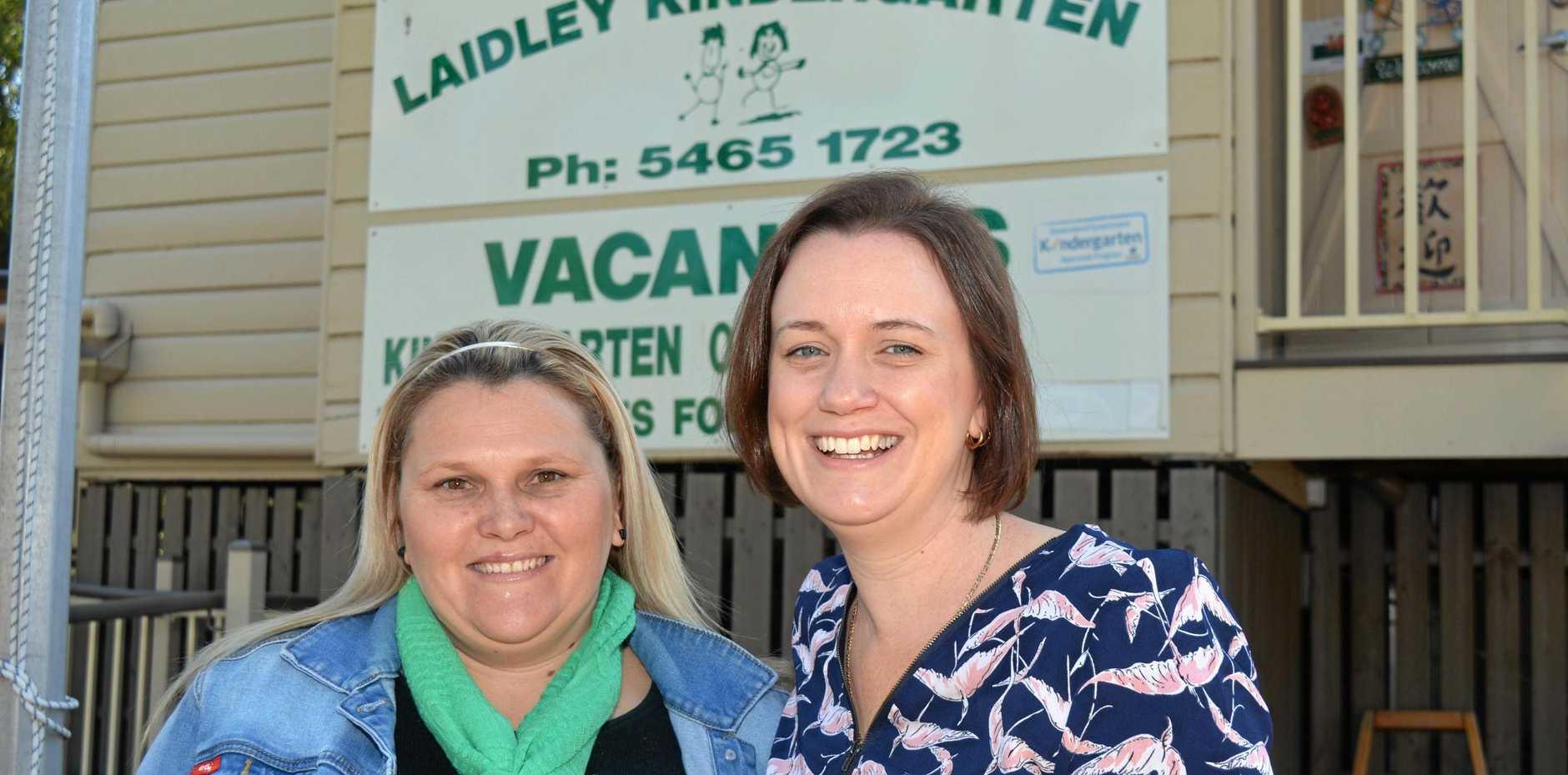 New Laidley Kindy teachers Bianca Beare and Anna Feeny