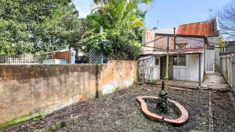 The backyard of 86 Charles St, Erskineville.