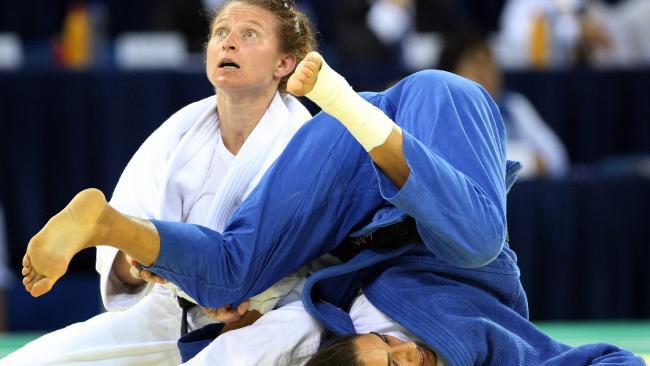 Maria Pekli in the semi-final of the Beijing Olympics. Pic: Adam Head