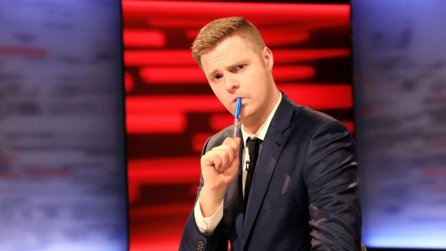 Tom Ballard, host of Tonightly With Tom Ballard. Picture: ABC Comedy
