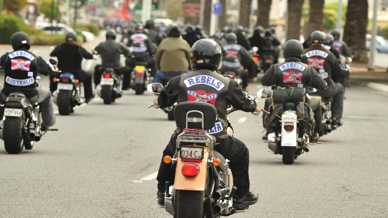 Rebels bikies visiting Sydney for a secret outlaw motorcycle gang soiree have been hauled out of their hotels and sent packing.