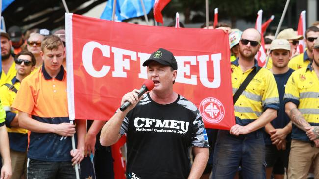 """Justice Tracey said there were increasing concerns over the """"ongoing misconduct of the CFMEU and it's officials"""". Picture: AAP Image/Claudia Baxter"""
