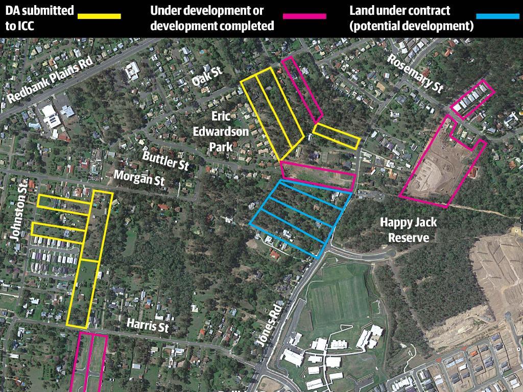 A snapshot of development in Bellbird Park.