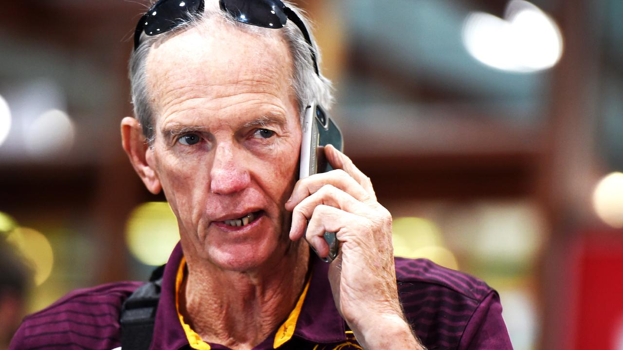 Coach Wayne Bennett is reportedly on the way out of Brisbane. Picture: Alix Sweeney
