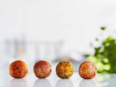 IKEA's famous meatball range: salmon balls, meatballs, veggie balls and chicken meatballs. Picture: IKEA/Supplied