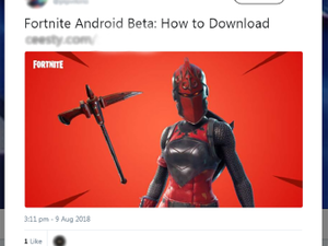 Fortnite scammers target Android owners