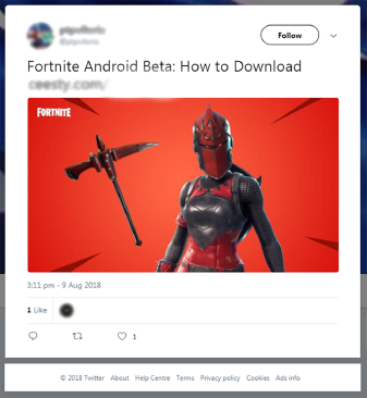 Some scammers link to Fortnite news articles, but use ad links that earn them cash when you click.