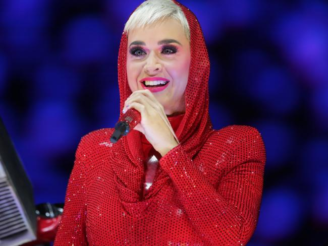 Perry broke her mic when a young fan told her she wanted to be a singer — and wished her stage name to be Katy Perry. Picture: Christian Gilles