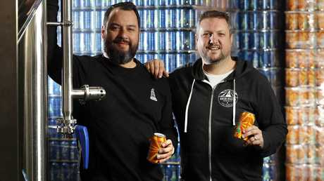 Green Beacon Brewing Company owners Marc Chrismas and Adrian Slaughter. Picture: Josh Woning