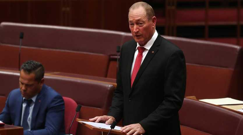 Senator Fraser Anning maiden speech in the Senate Chamber at Parliament House in Canberra. Picture Kym Smith
