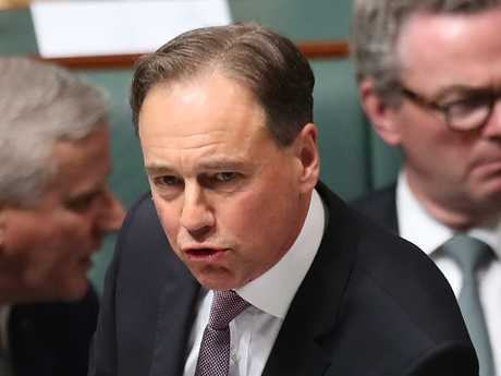 Health Minister Greg Hunt in Question Time. Picture Kym Smith