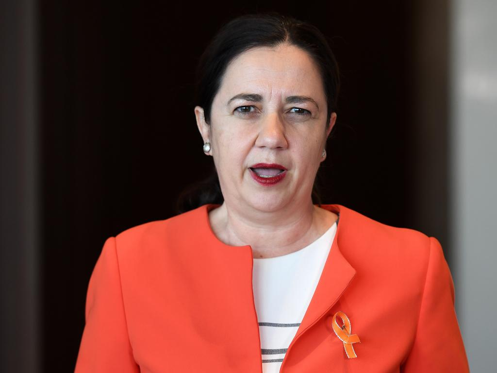Queensland Premier Annastacia Palaszczuk wants the location offset for international film shoots permanently increased to 30 per cent. Picture: AAP Image/Dan Peled.